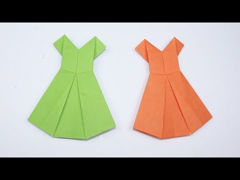 How to Make an Origami Paper Dress - DIY Origami Dress for Kids