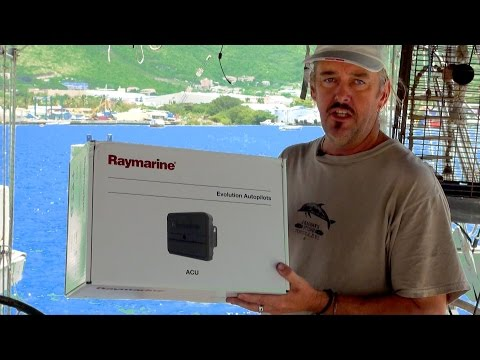 """Just Another Day in Paradise"" ~Part 6~ RayMarine Autopilot Replacement, in St Martin, Caribbean"