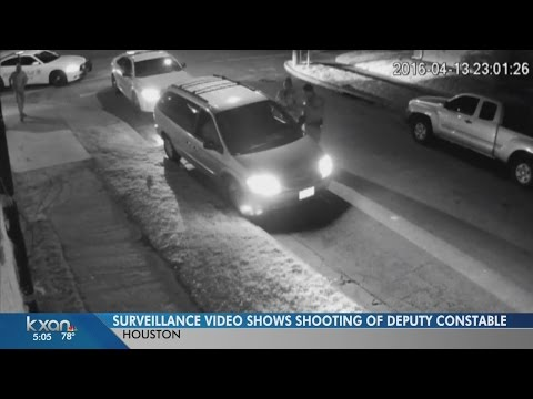 Harris County Constable Deputy shot - Video shows ambush