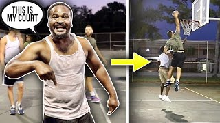 TRASH TALKER Gets DUNKED ON And Tried To Fight At The PARK !!
