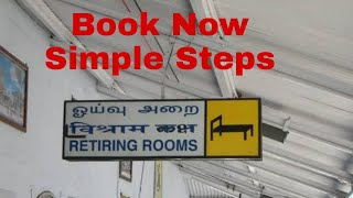How to Book Railway Retiring room online on mobile