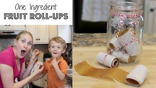 One Ingredient Fruit Roll-Ups!