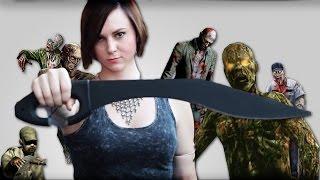 ZOMBIE Face DECAPITATION 2!  | Cold Steel Kopis Machete | Zombie Go Boom