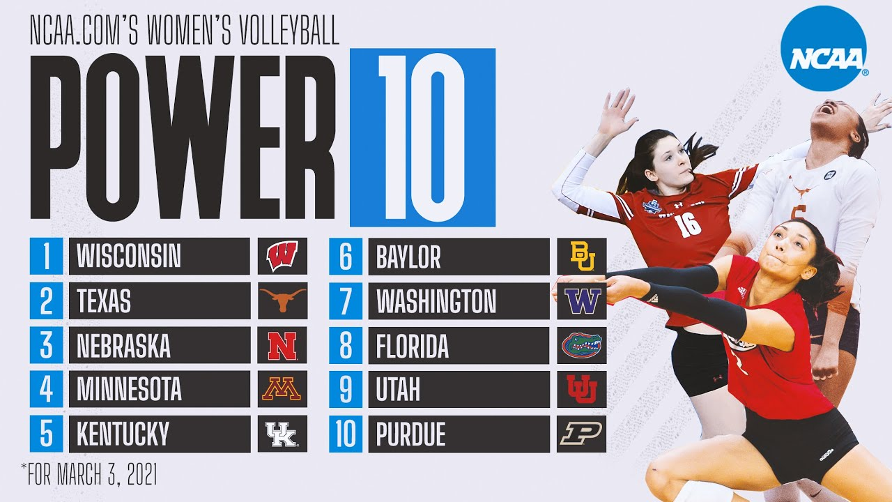 College volleyball rankings: Utah falls, top 4 hold in new Power 10