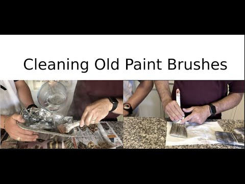 Cleaning Old Paint Brushes