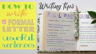 Writing Tips: Formal Leтter Useful sentences - Carta Formal Frases útiles