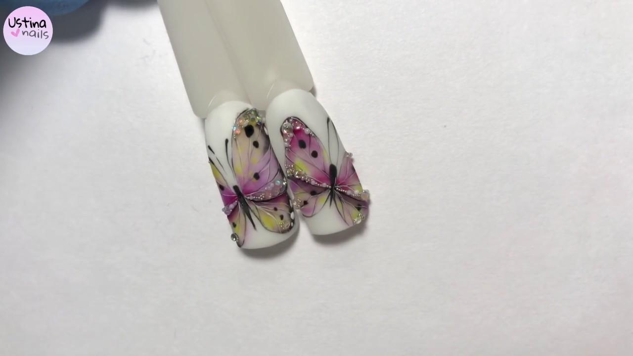 [ Làm Nail . Net ] Vẽ móng hình bướm ảo diệu quá