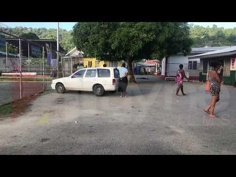Man shot dead in River Estate, police are on the scene.