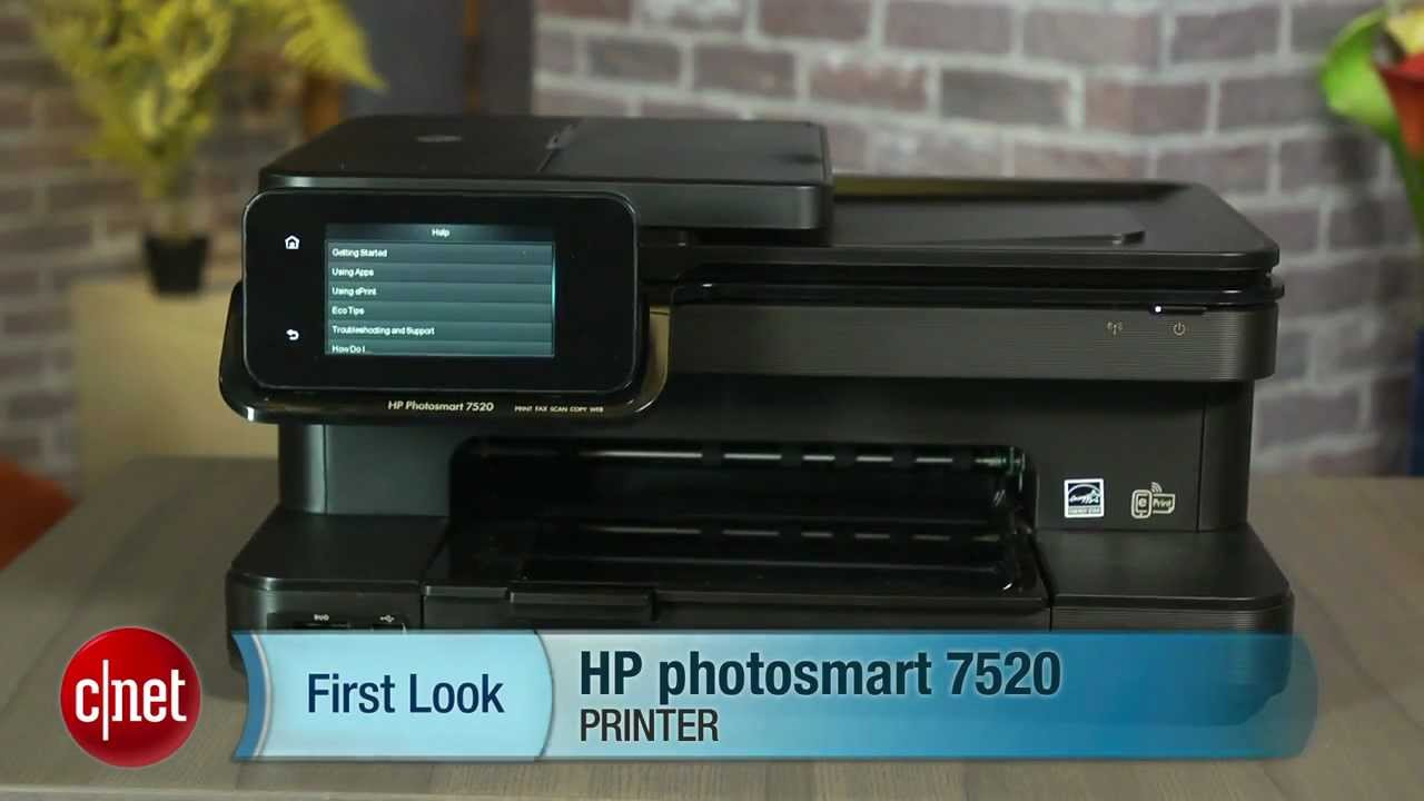 Hp Photosmart 7520 Prints At Home And Abroad Youtube