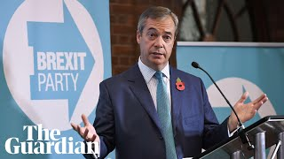 Nigel Farage reveals Brexit Party's 600 general election candidates – watch live