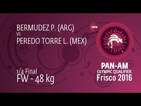 1/4 FW - 48 kg: P. BERMUDEZ (ARG) df. L. PEREDO TORRE (MEX), 8-2
