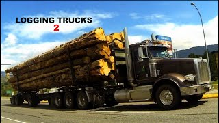 B.C. Logging Trucks #02 -- Kenworth, Peterbilt, Western Star, White