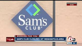 Two Sam's Club locations in Indianapolis are closing on January 26
