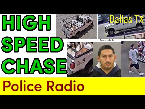 """He fired shots at us"" Radio Traffic of Intense Dallas Police Chase"