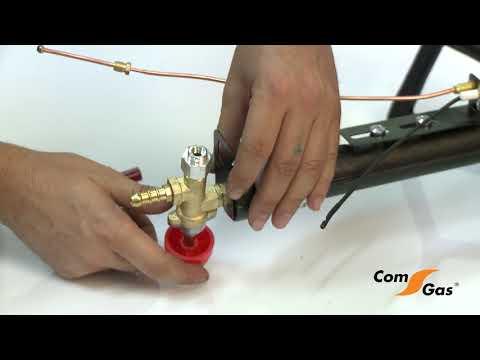 Montaje quemador trípode Comgas 1132TP