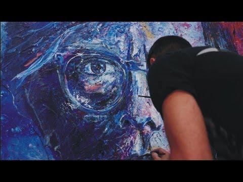 Franko Artist- Andy Warhol Abstract Realism Painting Timelapse Klaypex