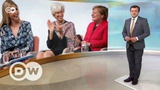 Первая дочь  США в гостях у Меркель   DW Новости (25 04 2017)