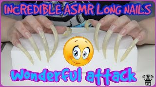ASMR LONG NAILS VERY SHARP  TINGLES UP CLOSE SLEEP TRIGGERS EAR TO EAR ASMR CLAWS TAPPING ROLEPLAY!