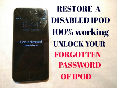 How Unlock Locked Or Forgotten Word Of Ipod Iphones