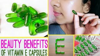 Use Vitamin E capsules this way and get Crystal Clear & Younger looking Skin