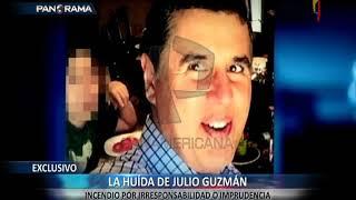 La huida de Julio Guzmán: captan al líder del Partido Morado involucrado en confuso incendio