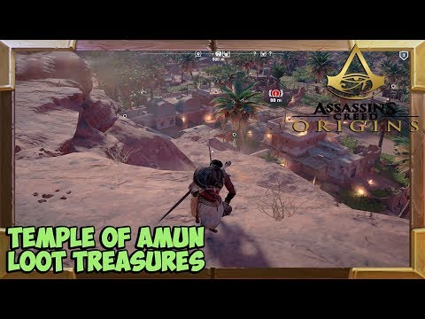 Assassin's Creed Origins Temple of Amun Loot Treasure Locations