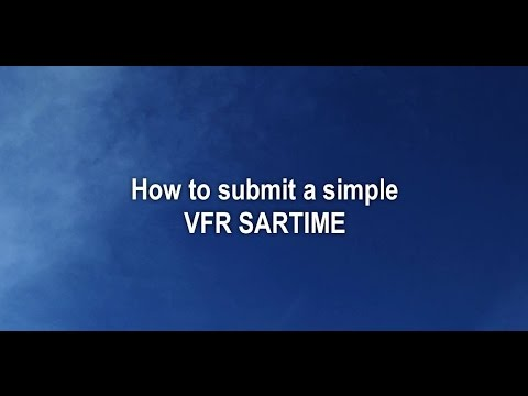 Lodge and cancel a VFR SARTIME