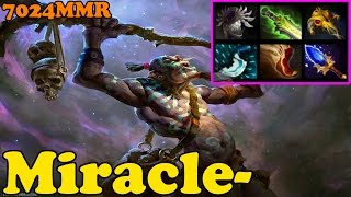 Dota 2 - Miracle- 7024 MMR Plays Witch Doctor - Ranked Match Gameplay