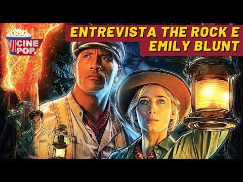 HILÁRIO! The Rock e Emily Blunt falam sobre parceria no cinema e seus filmes favoritos na infância