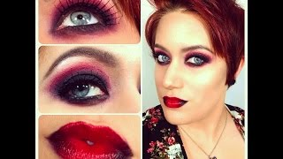 Dark Halloween Makeup w/ Spider Web Eyelashes Tutorial Thumbnail