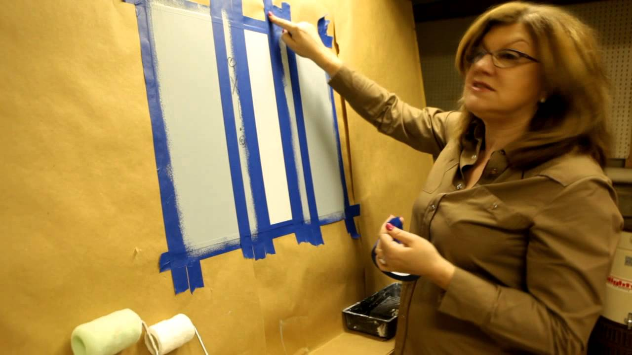 Wall Stripes: A Tutorial on How to Paint Stripes - YouTube