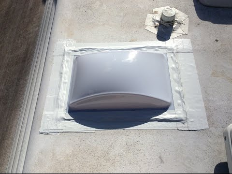 RV Skylight installation, replacement and repair shower bathroom dome skylight leak