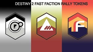 DESTINY 2 FAST FACTION RALLY TOKENS TRICK