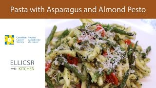 Pasta With Asparagus And Almond Pesto