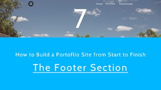 How to Make a Website from Start to Finish - Footer Section