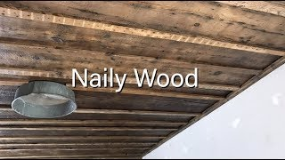 Reclaimed Wood Accent Ceiling (Naily Wood)