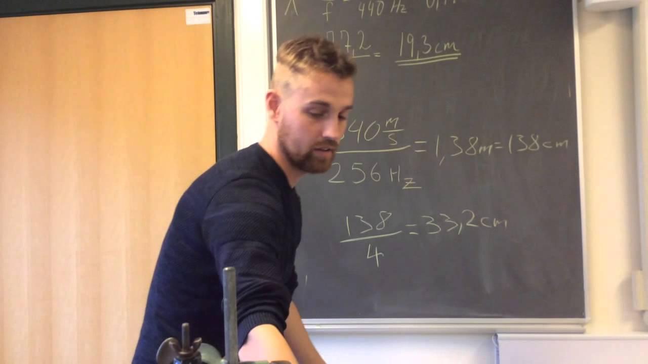 Beregning af bølgelængder - stående bølger