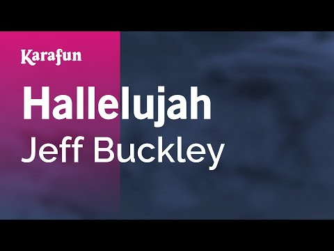 Karaoke Hallelujah - Jeff Buckley *