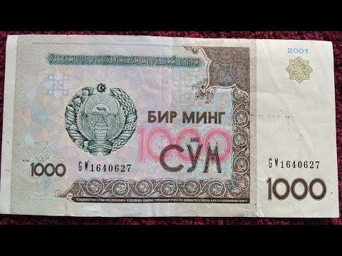 1000 Som 2001 Uzbekistan