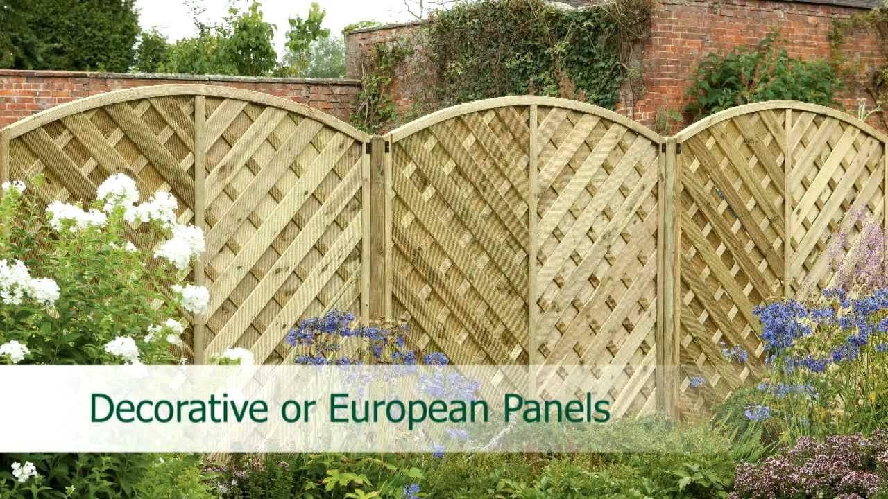 Fence panels explained youtube baanklon Images
