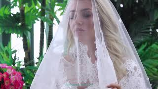 Свадебная фата с кружевом шантильи