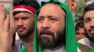 عاجل مظاهرات بغداد  السيد علي الطالقاني ينزل مع المتظاهرين الان