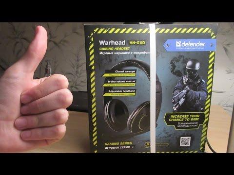 Обзор игровых наушников Defender Warhead HN-G110