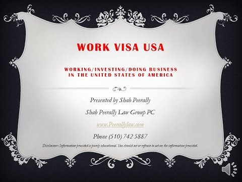 Work Visa USA - An Overview Of Employment Visas In The USA.