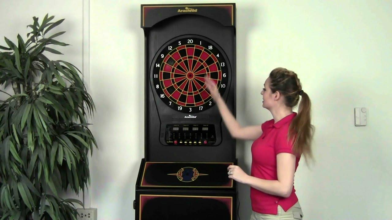 Arachnid Arcade Style Dart Game E650FS-BK - YouTube