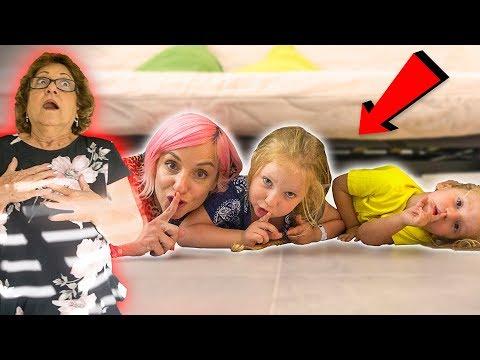 התחבאנו בבית של סבתא! היא כמעט חטפה התקף לב 😱 טרסובלוג
