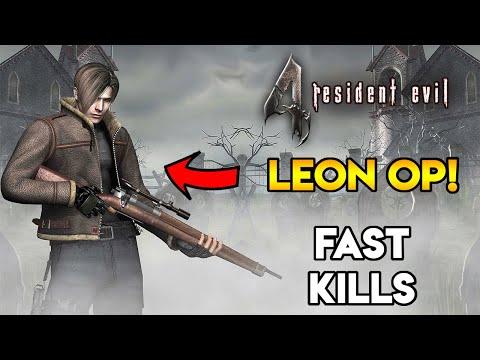LEON OVERPOWERED! - Resident Evil 4 - All Bosses (Speedrun) - Professional - 4K / 60FPS