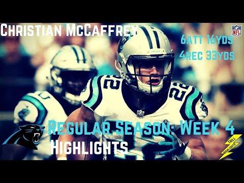 Christian McCaffrey Week 4 Regular Season Highlights | 10/01/2017