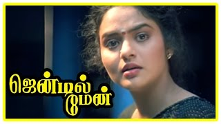 Gentleman Movie Scenes | Arjun rejects Madhoo's proposal | Charan Raj | Goundamani | Senthil