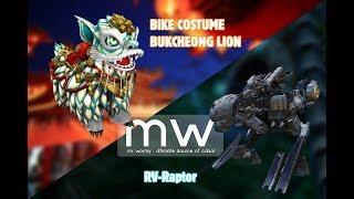 CABAL Transcendence New Bike RV-Raptor and New Bike Costume Bukcheong Lion
